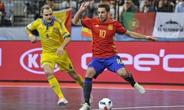 Сборная Украины по футзалу дважды сразилась с испанцами (видео)