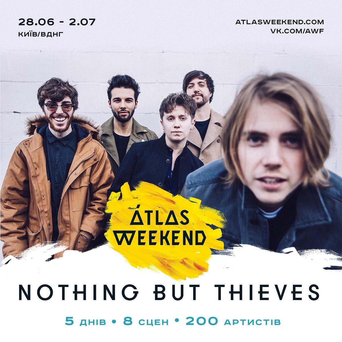 Nothing But Thieves выступят в Киеве на Atlas Weekend 2017