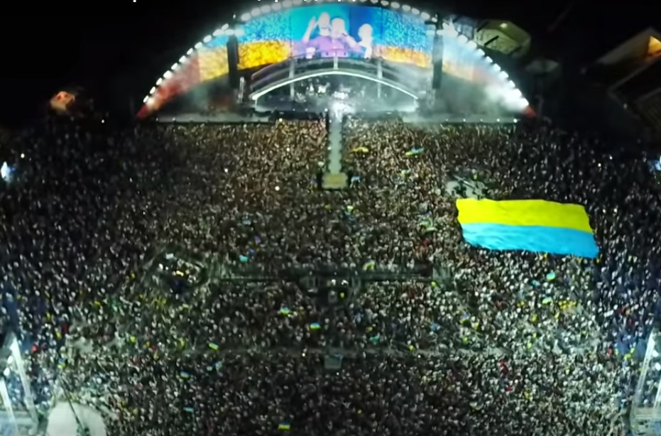Відео дня: неймовірне виконання гімну України на концерті «Океан Ельзи» до Дня Незалежності