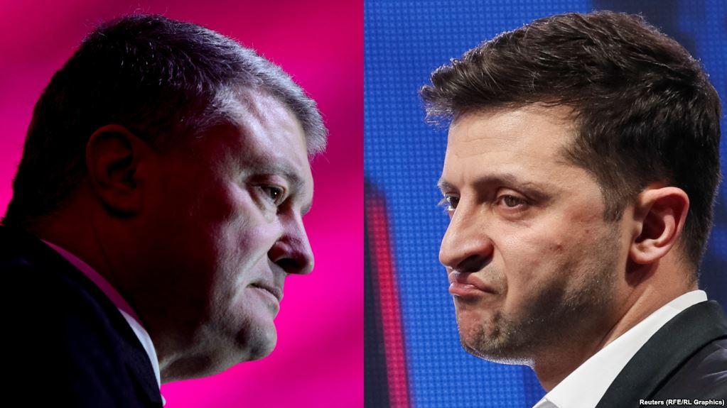 """В НСК """"Олімпійський"""" Порошенко вийшов до журналістів, Зеленський не прибув – відео"""