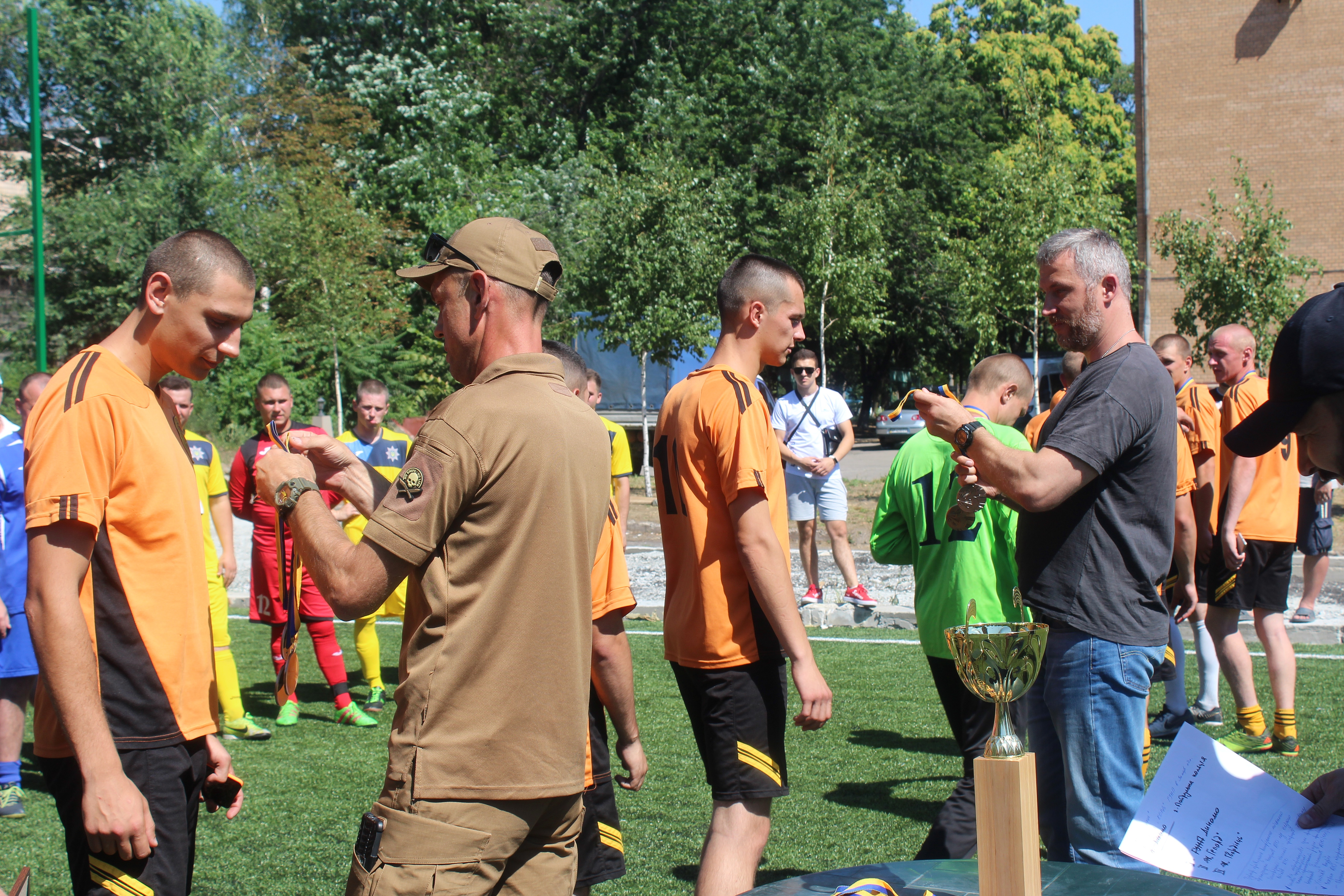 У Запоріжжі відбувся перший футбольний турнір серед підрозділів силових структур