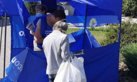 У Запоріжжі нищать намети з політичною агітацією пропосійської партії