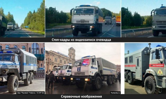 Очевидці зняли на відео колону автомобілів без номерних знаків, що рухаються до російсько-білоруського кордону
