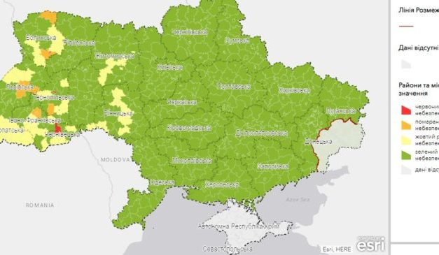 Населені пункти в Україні поділили на карантинні зони, Запоріжжя в зеленій