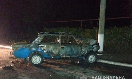 На Запоріжжі водій не впорався з керуванням, авто спалахнуло, водій загинув на місці